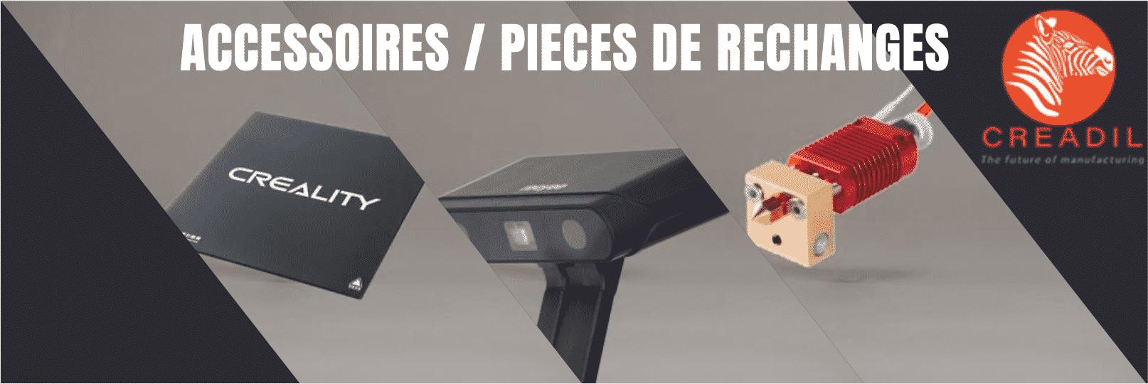 accessoires et pièces de rechanges imprimante 3D